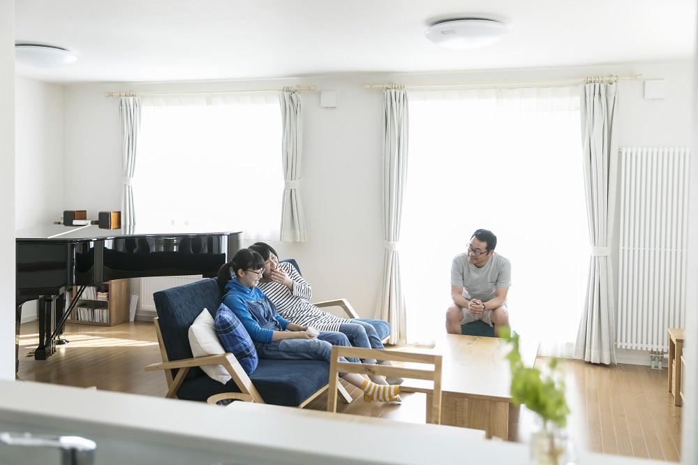 グランドピアノが置けるオープンフロア -