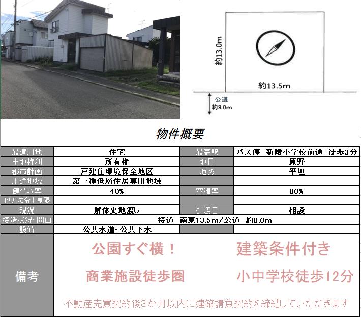 手稲区新発寒7条6丁目3-16 -